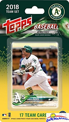(Oakland Athletics 2018 Topps Baseball EXCLUSIVE Special Limited Edition 17 Card Complete Team Set with Khris Davis, Dustin Fowler RC & Many More Stars & Rookies! Shipped in Bubble Mailer! WOWZZER!)