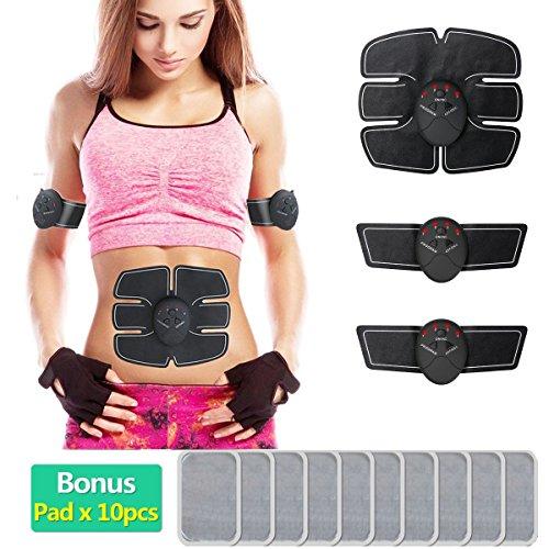 xlzkj ABS estimulador y muscular, Tóner, EMS, cinturón de tonificación abdominal entrenador inalámbrico cuerpo...