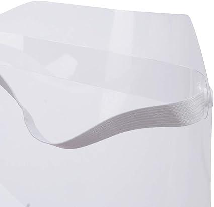 transparente diadema de pl/ástico ajustable Visera protectora de cara completa el humo de aceite color negro resistente a prevenir la saliva la lente antivaho