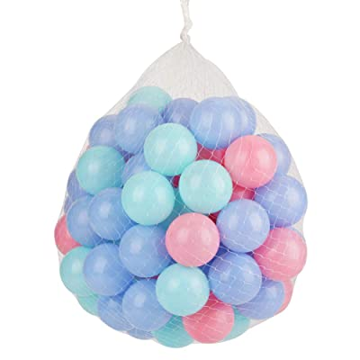 Borlai 100Pcs Colorful Ocean Ball Soft Plastic Sea Balls Baby Kid Swimming Toy 5.5cm Diameter: Toys & Games