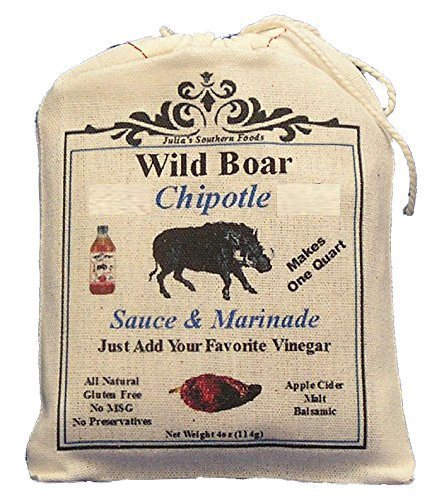 Julia's Wild Boar Chipotle Sauce and Marinade Mix - Makes 1qt Sauce or 4 Marinade Recipes (Best Barbecue In Raleigh Nc)