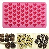 BESTIM INCUK 55-Cavity Silicone Love Heart Cake Mould Chocolate Jelly Candy Baking Mould