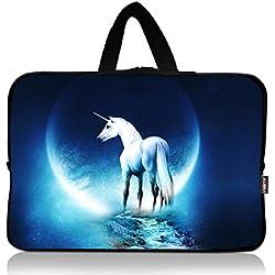 AUPET White Unicorn Universal 7 ~ 8 inch Tablet Portable Neoprene Zipper Carrying Sleeve Case Bag