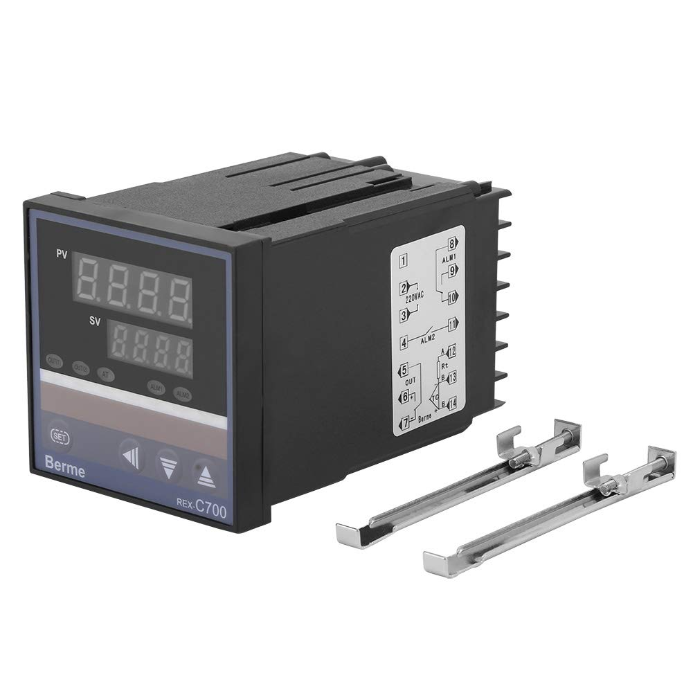 REX-C700 0℃~400℃ Intelligent thermostat PID Digital LED Temperature Controller Input Relay Output 220V