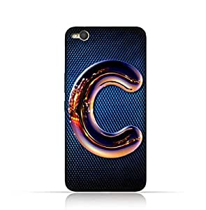 Htc X9 Silicone Case with Chrome Night Letter C Design
