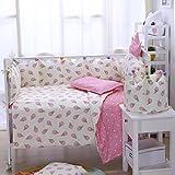 ice cream crib sheet - Brandream Honey Baby Ice Cream Crib Bedding Set With Bumper,Pretty Cute Pink Nursery Bedding,Perfect Baby Shower Gift,7pcs