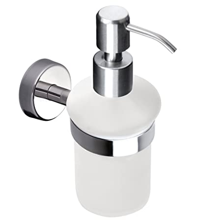 Kapitan Liquid Soap Dispenser And Holder Frosted Glass Wall