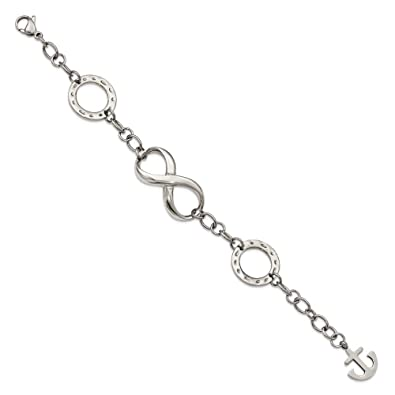 Amazon Solid Stainless Steel Polished Infinity Symbol And