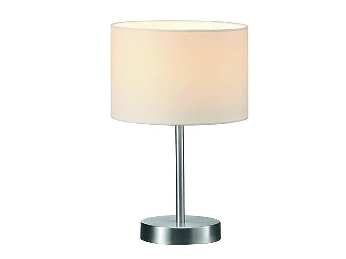 Clásica Lámpara de mesa con pantalla de tela en color blanco ...