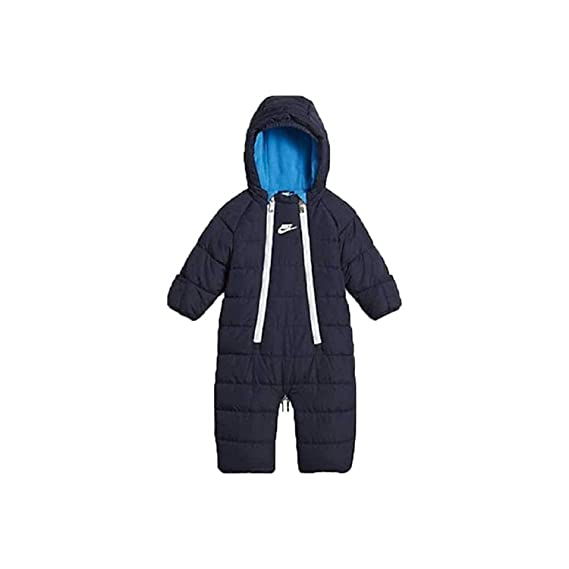 328c1a7d20e1c Nike Infant/Toddler Sportswear Convertible Snowsuit Jacket Navy Blue/White  (9-12 Months): Amazon.co.uk: Clothing