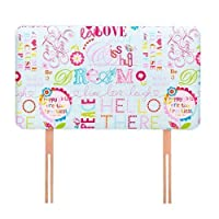 Ready Steady Bed Hello There Design Children's Single Headboard 3ft Bed Size Foam Upholstered