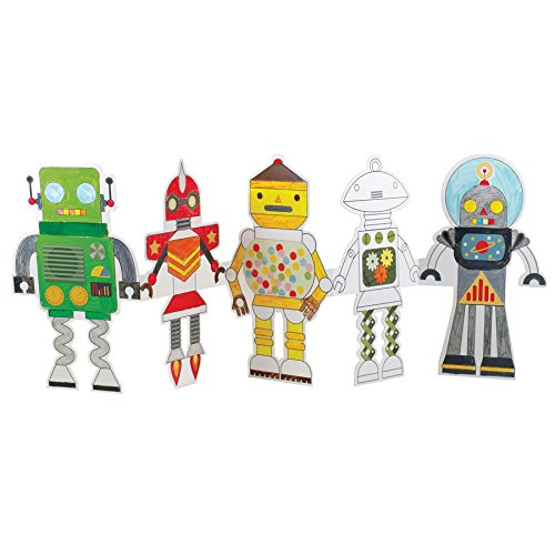 Petit Collage Eco-friendly Crafts - Paper Doll Chain - Robot