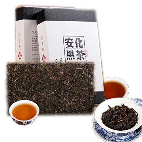 (Chinese Pu'er tea 1000g(2.2LB)Ripe Puer tea Black tea Golden Flower Brick Tea Old Pu-erh tea Cooked tea Old trees Pu er tea Health Care Pu er tea Healthy Puer tea Green Food)