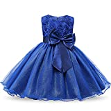 LYLIFE Girls Hi-Low Wedding Pageant Dress Flower Girl Party Gowns