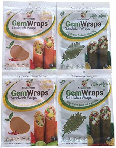 GemWraps 24ct Value Pack- Kale Apple & Mango (Apple Chipotle)