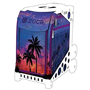 ZUCA Island Life Sport Insert Bag (Bag Only) Beautiful Sunset and Palm Trees Design