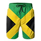 Mens Jamaica Flag Jamaican Quick Dry Lightweight Fashion Board Shorts Swim Trunks XL