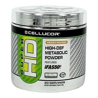 Cellucor Super HD Powder, Peach Mango, 180 Gram