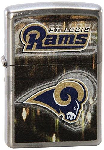 Louis Rams Metal - Zippo NFL St. Louis Rams Street Chrome Pocket Lighter