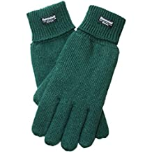 EEM ladies knitted glove JETTE with Thinsulate thermal lining, warm, 100% wool, winter, dark green M