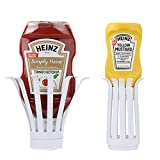 Home-X - Upside Down Condiment Bottle Holder (Set of 2), Perfect Kitchenware Accessory for the Table, Bar or Restaurant, Easy-To-Use Design Prevents Waste so You Get the Most of Your Favorite Condimen