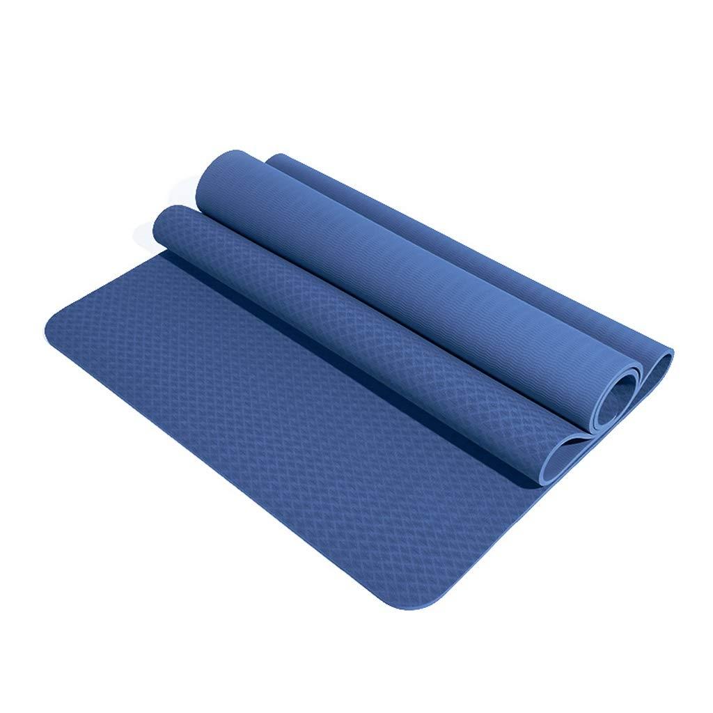 B HBJP Tapis de Yoga TPE Tapis de Yoga épaississement élargissement Long débutant Hommes et Femmes Tapis de Sport Tapis de Fitness Tapis de Yoga antidérapant Tapis de Yoga (Couleur   C, Taille   8mm) 10mm