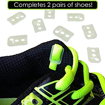 No Tie Shoelace Locks - Lace Anchors 2.0 - Never Tie Your Shoes Again(Completes 2 pairs of shoes)