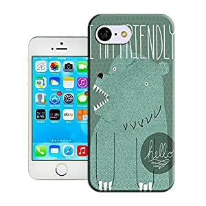 lincase cartoon bear i am friendly antiwear Tpu material hard case cover for Iphone5C