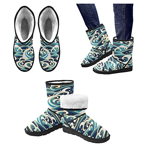 Snow Stivali Da Donna Di Interestprint Stivali Invernali Comfort Dal Design Unico 15