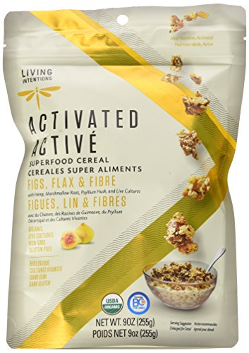 (Living Intentions Activated Superfood Cereal, Gluten Free, Vegan, Organic, Figs, Flax, and Fiber, 9 Ounce)