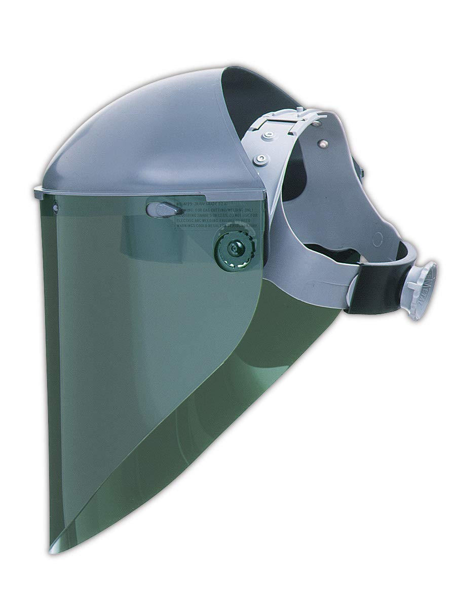 North by Honeywell 4199IRUV5BP Faceshield Visor, Shade 5 IR, Green Tinted,