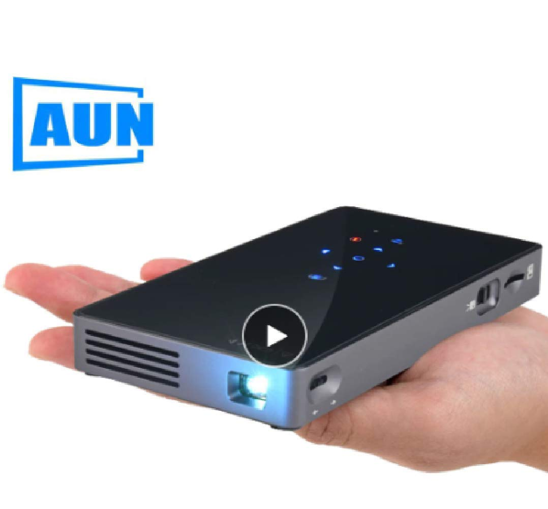 AUN スマートプロジェクター D5S Android 7.1 (2G + 32G) WiFi Bluetooth HDMI ホームシアターミニプロジェクター D5ホワイトオプション) B07N7LY2LS