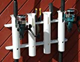 Bison BOAT ROD HOLDER VERTICAL 2-3-4-5 TUBE ACCESSORY RACK[4]