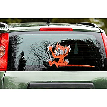 Quattroerre 1249 funny wipers rear window car stickers monkey