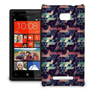 Phone Case For HTC 8X - Moody Blues Geometrics Hard Slim
