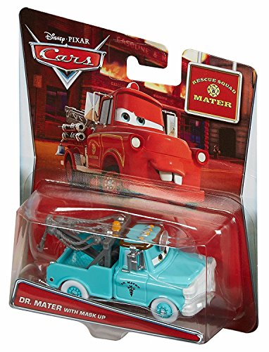 Disney/Pixar Cars Mater's Tall Tales Dr. Mater with Mask Up (Rescue Squad Mater) Die-Cast Vehicle