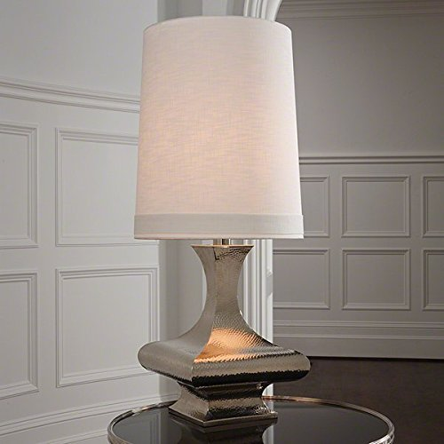 Hammered Shiny Nickel Table Lamp