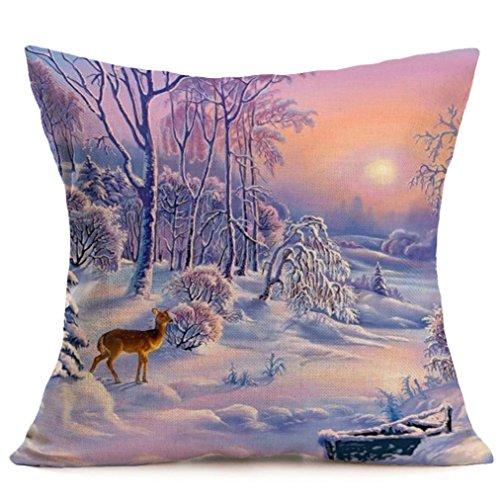HITRAS Home Decor Cotton Linen Sofa Rectangle Dog Cushion Pillow Cases Cover (Size: 18