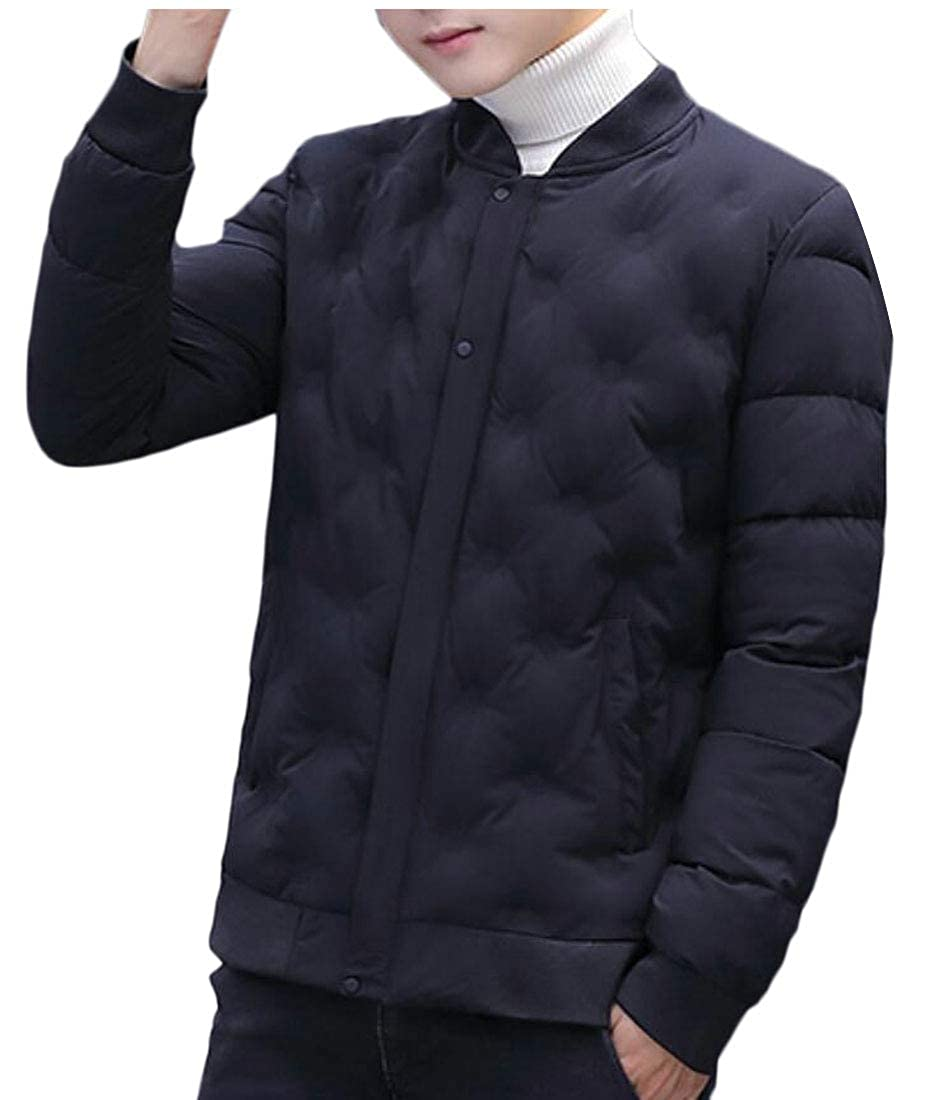 UNINUKOO Unko Men Winter Quilted Coat Button Down Padded Down Jackets Outwears