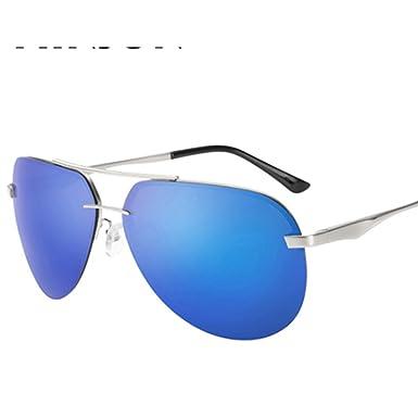830330e2d88 Mens rimless sunglasses Polarized frog glasses Bright driving sunglasses-E