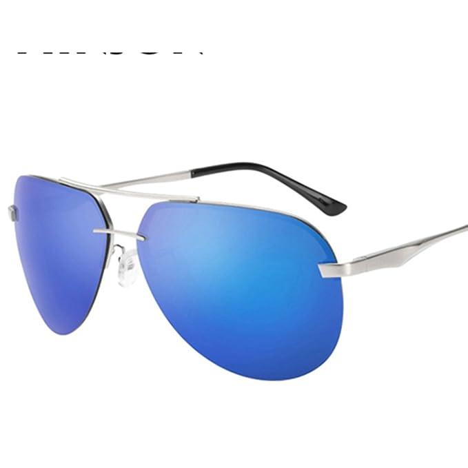 Gafas de sol sin montura de los hombres/Gafas de rana polarizadas/Gafas de