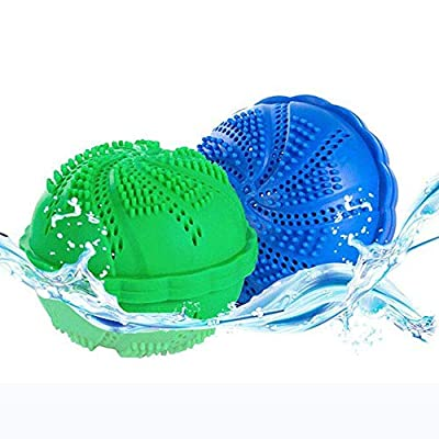 HYXRF Environmentally Friendly Laundry Washer Balls for 1500 Washings, Eco-friendly and Chemical Free, Set of 2