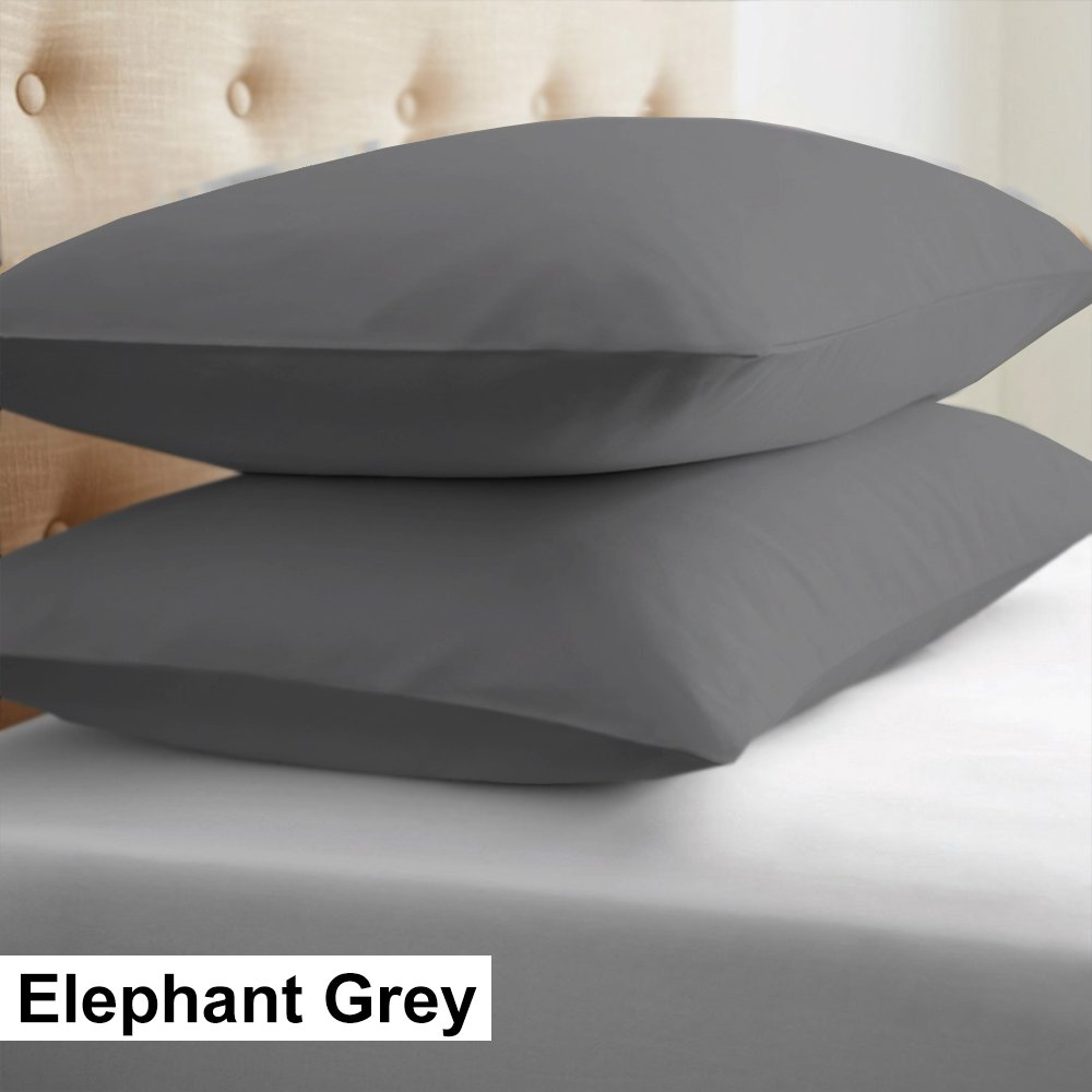 Euro Shams 26 x 26 , Elephant Grey Scala Friendliness Luxury Soft All Type Pillow Covers 2 Piece USA EuroShams Pillow Covers in Solid Pattern-100/% Egyptian Cotton- 400 Thread Count