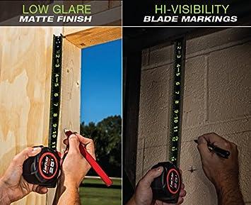 """Crescent Lufkin 1-3/16"""" x 25' Black Widow Black Dual Sided Tape Measure - L1025B"""