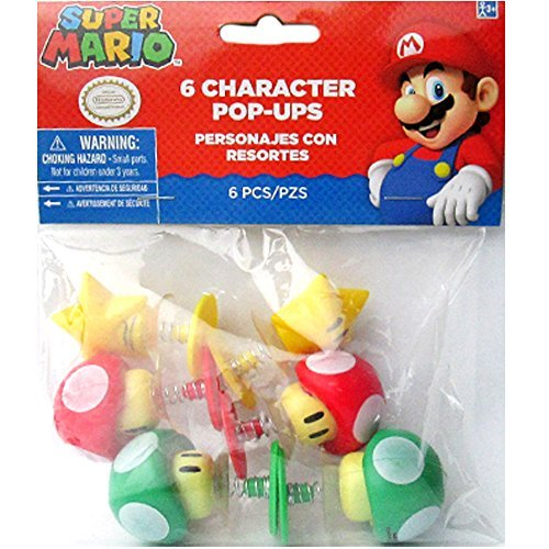 Super Mario Plastic Character Pop-Ups / Favors (Character Pop Up)