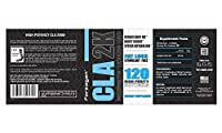 CLA 2000 High Potency Forzagen Conjugated Linoleic Acid Fat Loss Stimulant Free Exercise Enhancement Supplement, 120 High Purity Softgels