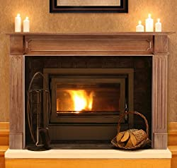 Pearl Mantels 111-50 Alamo 50-Inch Fireplace Mantel, Unfinished from Pearl Mantels