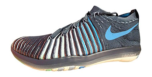 Nike Free Transform Flyknit Womens Running Trainers 833410 Sneakers Shoes (US 9.5, squadron blue green glow white 402)