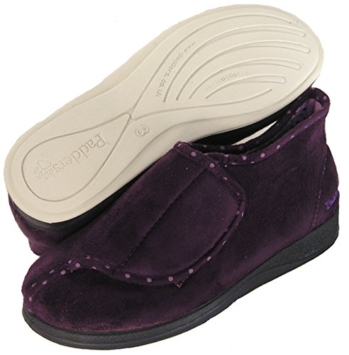 Purple Cherish Soft Closure Bootie Microfiber Wide PADDERS Adjustable Slipper Women's Extra 1CWOq5nx8