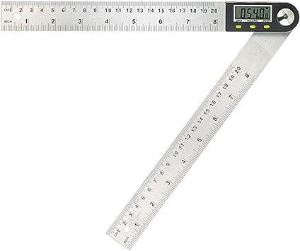 0-200mm Edelstahl Elektronische Winkelmesser Digital Winkelmessgerät Lineal